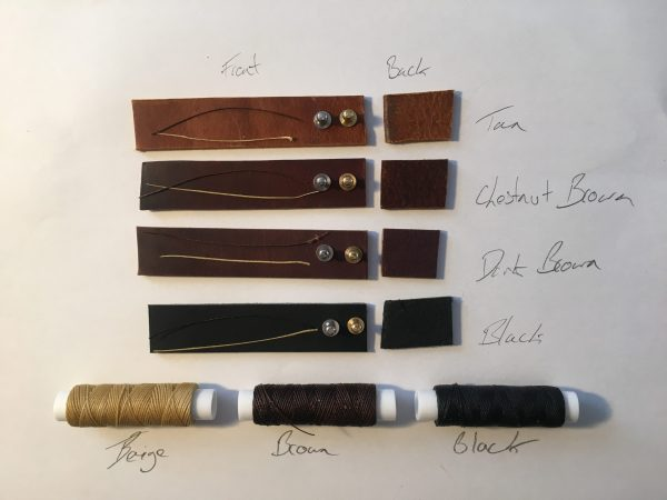 Colour, Fastner and Thread Options