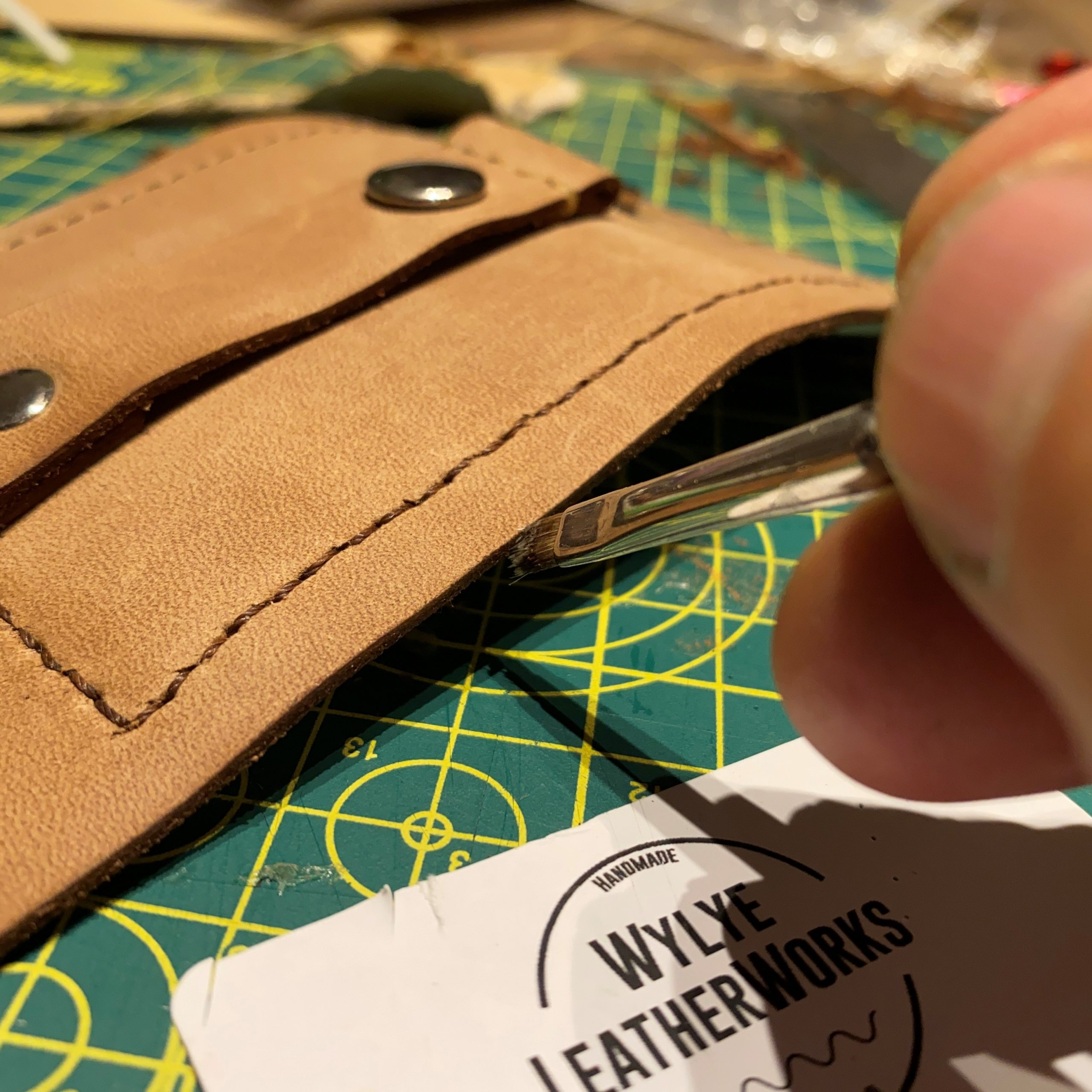 Working hard on our new limited edition fly patch / wallet